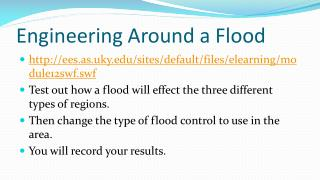 Engineering Around a Flood