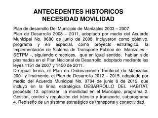 Plan de desarrollo Del Municipio de Manizales 2003 – 2007