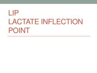 LIP Lactate inflection point