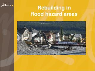 Rebuilding in  flood  hazard areas