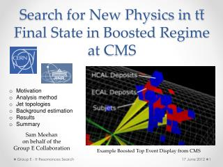 Search for New Physics in  tt  Final State in Boosted Regime at CMS