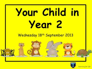 Your Child in Year 2 W ednesday 18 th  September 2013