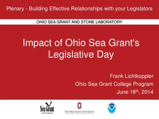 Impact of Ohio Sea Grant's Legislative  Day