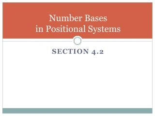 Number Bases                              in Positional Systems