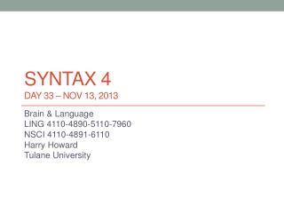 syntax 4 DAY 33 –  nov  13, 2013