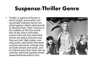 Suspense/Thriller Genre