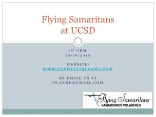 Flying Samaritans  at UCSD