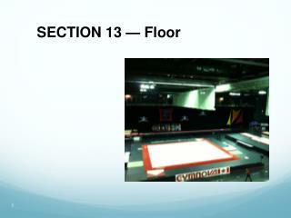 SECTION 13 — Floor