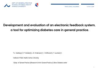 Development and evaluation  of  an  electronic feedback system,