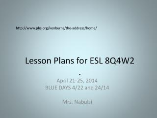 Lesson Plans for ESL  8Q4W2 .