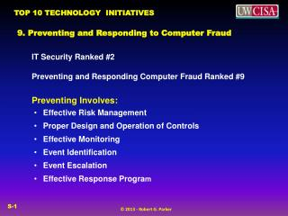 9. Preventing and Responding to Computer Fraud