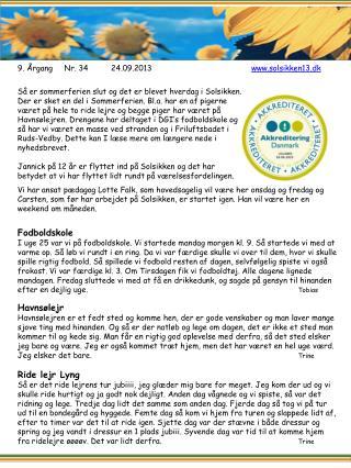 9 .  ÅrgangNr.  34 24.09.2013 www.solsikken13.dk