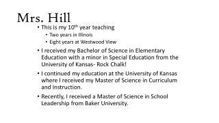 Mrs. Hill