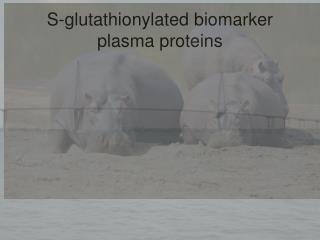 S-glutathionylated biomarker plasma proteins