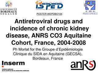 Ph Morlat for the Groupe d'Epidémiologie Clinique du SIDA en Aquitaine (GECSA), Bordeaux, France