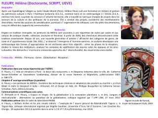FLEURY, Hélène (Doctorante, SCRIPT, UEVE) Biographie