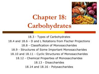 Chapter 18: Carbohydrates