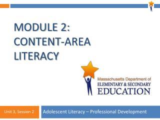 Module 2: Content-Area Literacy