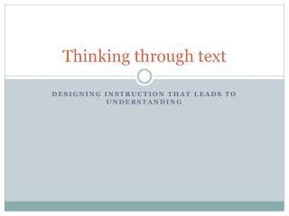 Thinking through text