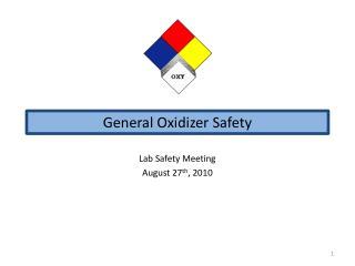 General Oxidizer Safety