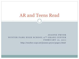 AR and Teens Read