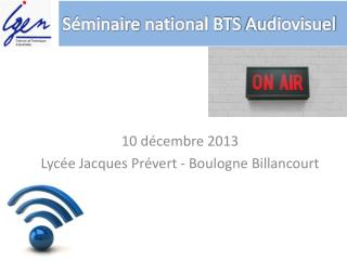 Séminaire  national BTS  Audiovisuel