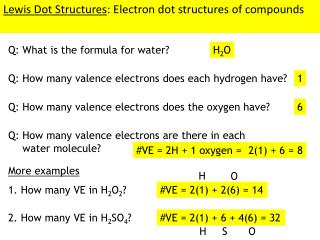 Lewis Dot Structures : Electron dot structures of compounds