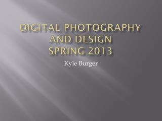 Digital Photography and Design Spring 2013