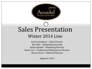 Sales Presentation Winter 2014 Line