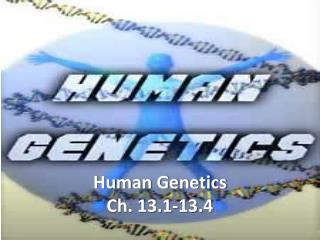 Human Genetics Ch. 13.1-13.4