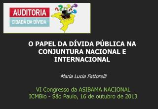 Maria Lucia Fattorelli VI Congresso da ASIBAMA NACIONAL