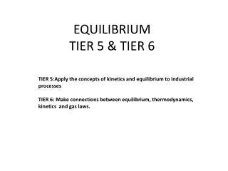 EQUILIBRIUM  TIER  5 & TIER 6