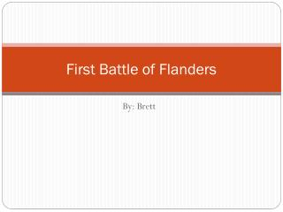 First Battle of Flanders