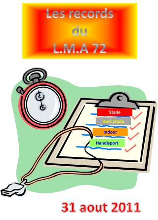 Les records du L.M.A 72