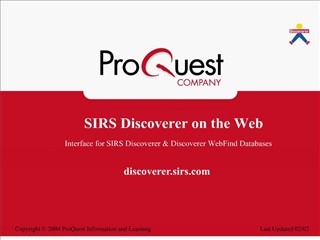 SIRS Discoverer on the Web