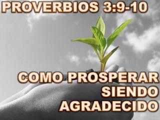 PROVERBIOS 3:9-10  COMO PROSPERAR SIENDO AGRADECIDO
