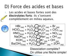 D) Force des acides et bases