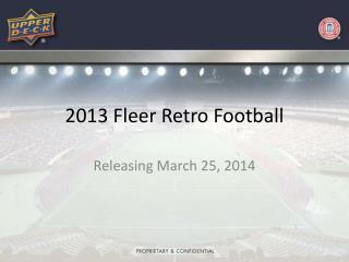 2013 Fleer Retro Football
