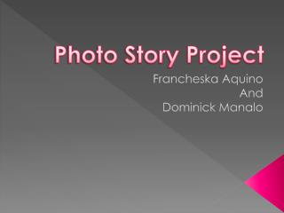 Photo Story Project