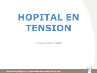 HOPITAL EN TENSION