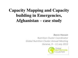 Capacity  Mapping and Capacity building in Emergencies, Afghanistan – case study
