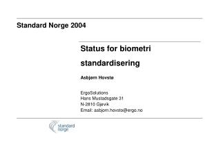 Standard Norge 2004
