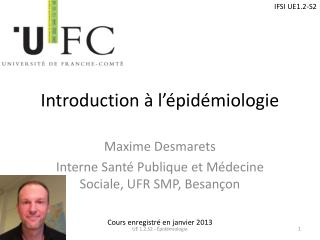 Introduction � l��pid�miologie