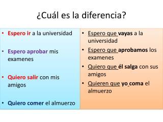 ¿ Cuál es  la  diferencia ?