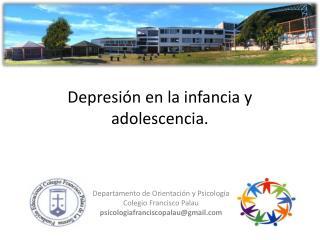 Depresión en la infancia y adolescencia.
