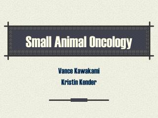 Small Animal Oncology