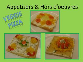 Appetizers & Hors d'oeuvres