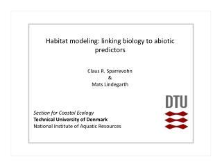 Section for Coastal Ecology  Technical University of Denmark