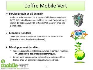 L'offre Mobile Vert