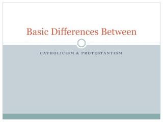 Basic Differences Between